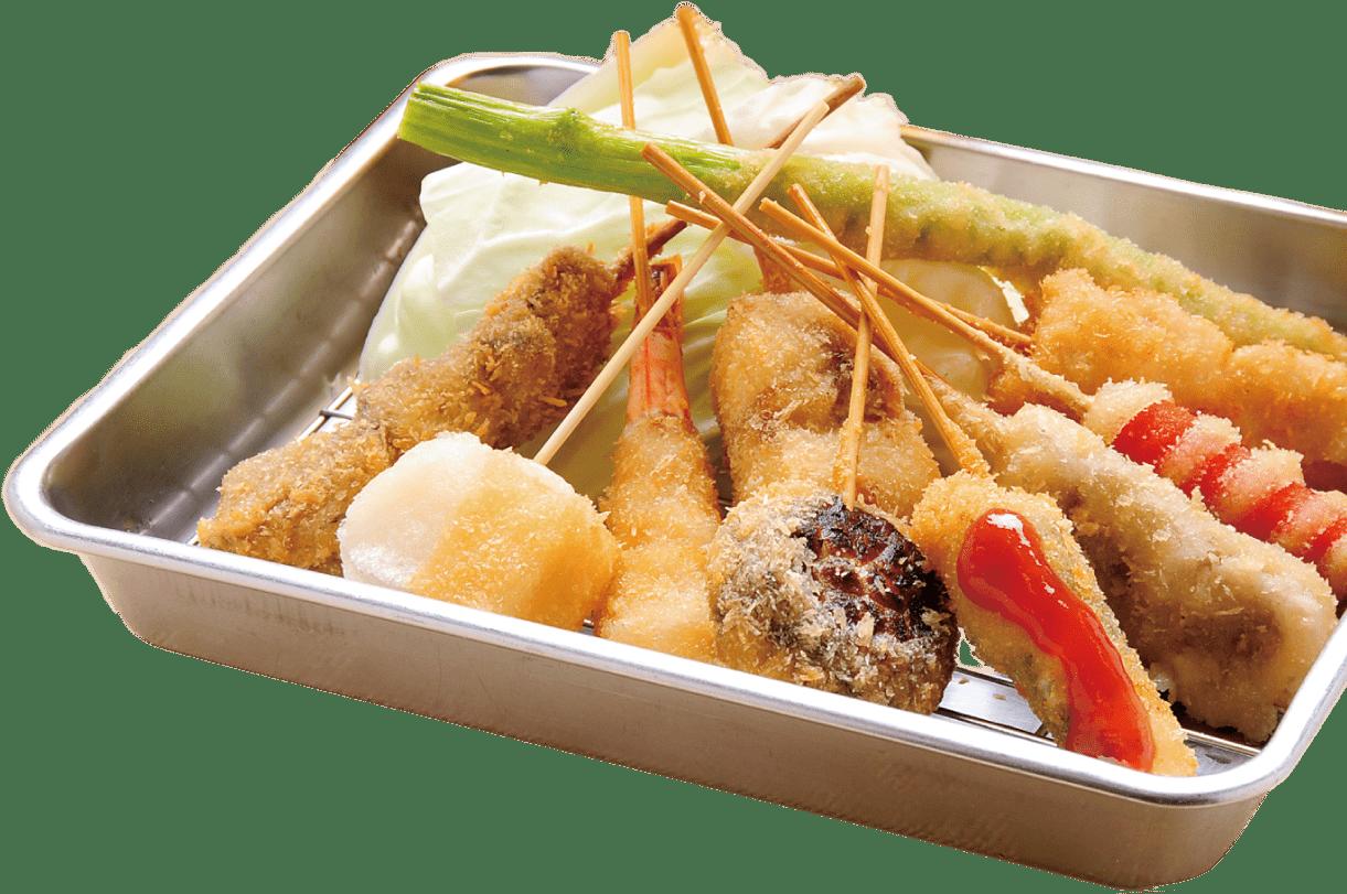 名物大阪新世界の味!串カツ